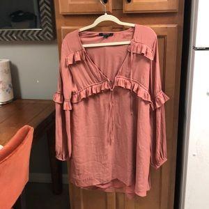 Mauve flowy dress
